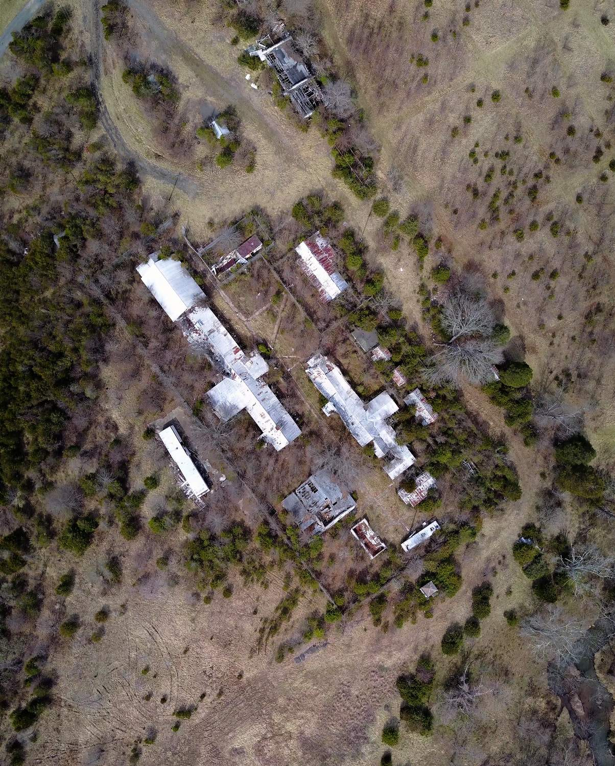 - State Prison Camp Number 26. Long since abandoned. - Tony Karp, design, art, photography, techno-impressionist, techno-impressionism, aerial photography , drone , drones , dji , mavic pro , video , 3D printing - Books -