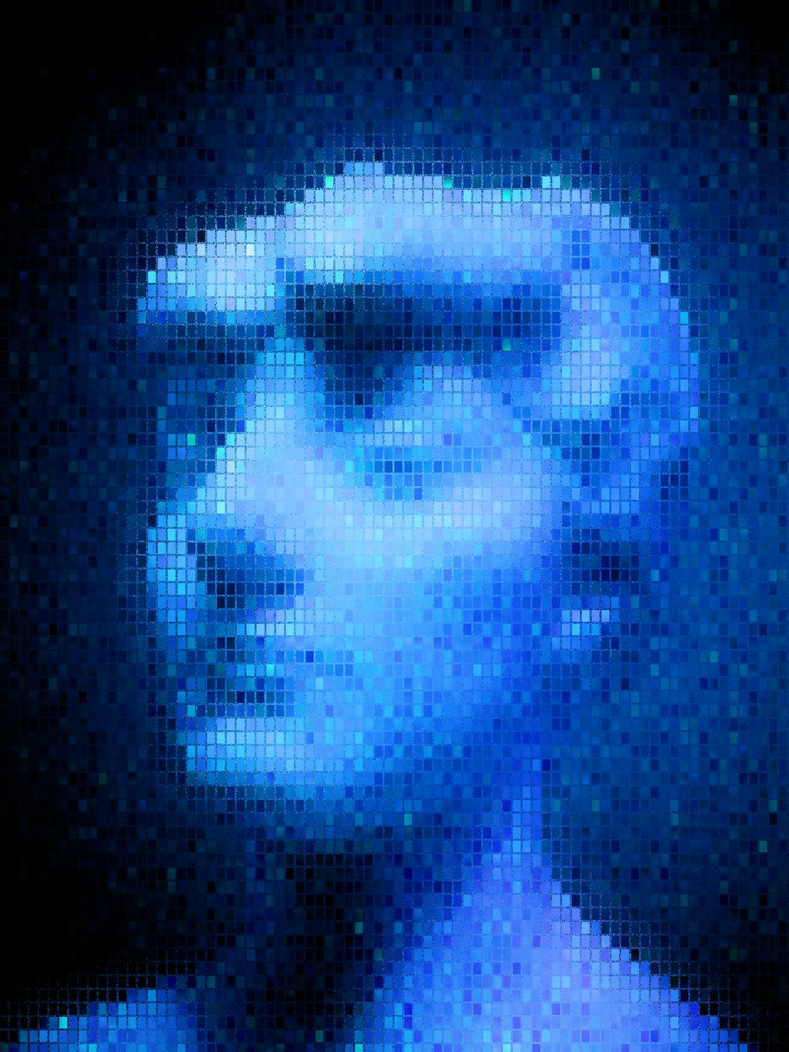 Blue bust - Blue notes - Metropolitan Museum of Art, New York City - Tony Karp, design, art, photography, techno-impressionist, techno-impressionism, aerial photography , drone , drones , dji , mavic pro , video , 3D printing - Books -