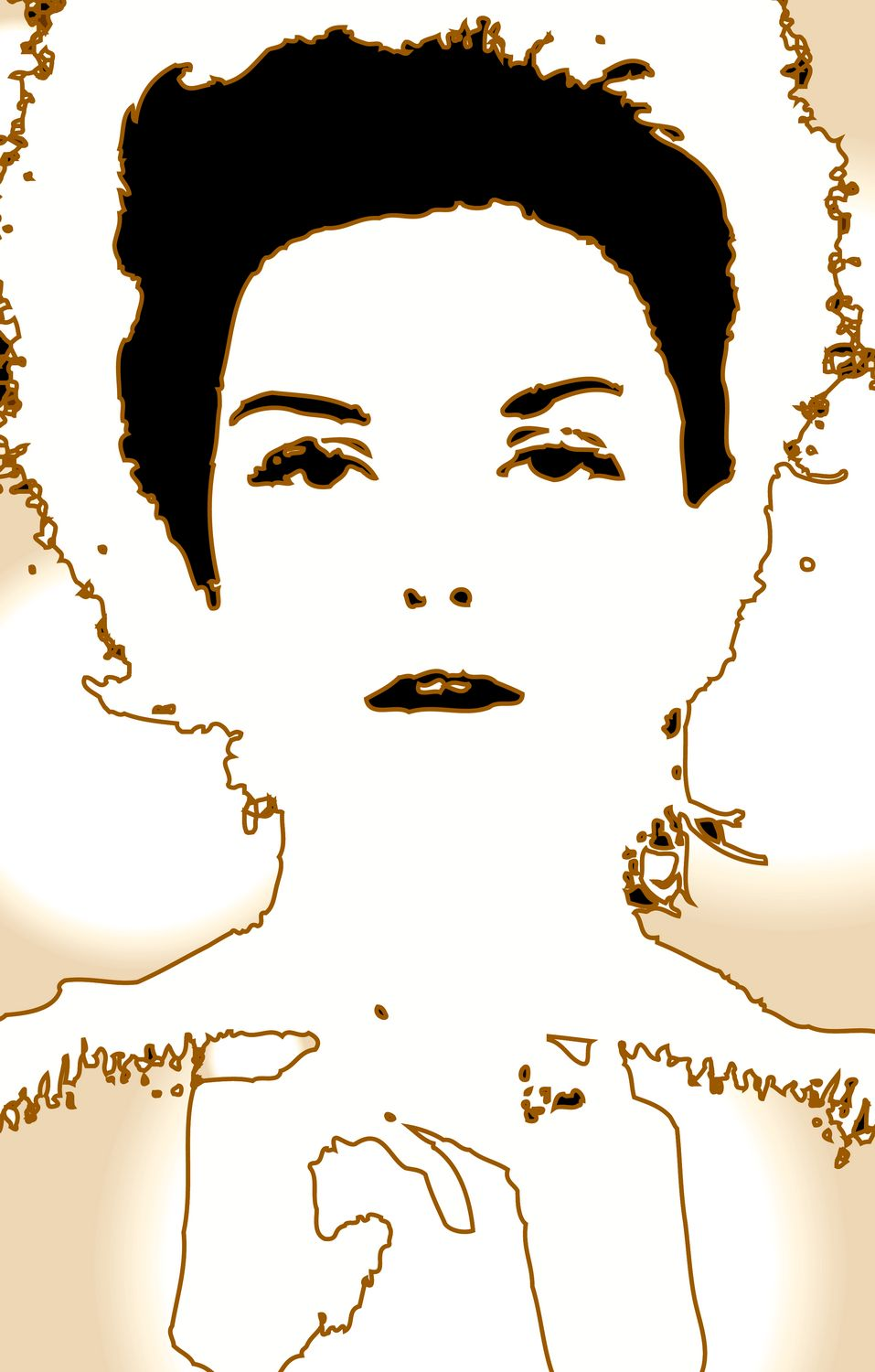 - The same as above, but with a slight sepia tone. - A portrait of Donna Mitchell as a young model - 1962 - Tony Karp, design, art, photography, techno-impressionist, techno-impressionism, aerial photography , drone , drones , dji , mavic pro , video , 3D printing - Books -