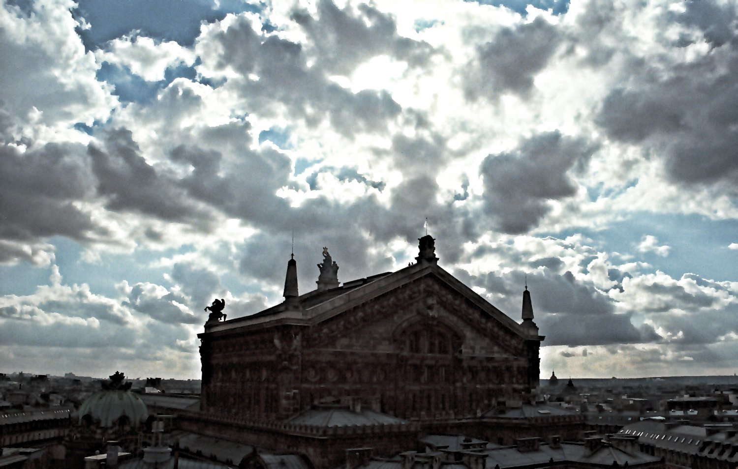 - Clouds surround the opera house. - Paris, eiffel tower - Tony Karp, design, art, photography, techno-impressionist, techno-impressionism, aerial photography , drone , drones , dji , mavic pro , video , 3D printing - Books -